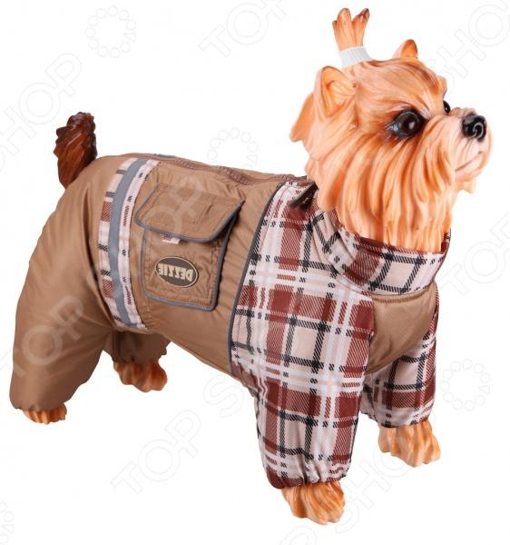 Комбинезон-дождевик для собак DEZZIE «Такса средняя». Цвет: бежевый