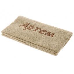 фото Полотенце подарочное с вышивкой TAC Артем. Цвет: бежевый