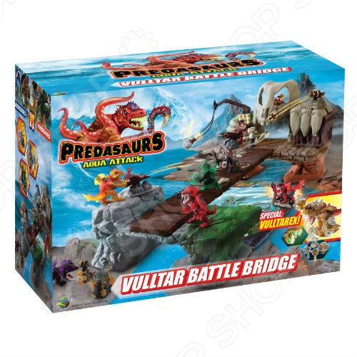 Игровой набор Dracco «Предазавры - водная атака. Мост битвы»
