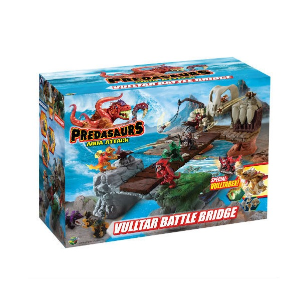 фото Игровой набор Dracco «Предазавры - водная атака. Мост битвы»