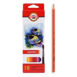фото Набор карандашей акварельных Koh-I-Noor «Рыбки»: 18 цветов