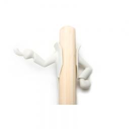 фото Крючок для швабры декоративный Peleg Design Mr. Brooman. Цвет: белый