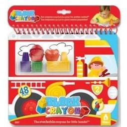 Купить Набор мелков восковых фигурных Block crayon «Пожарная машина»