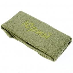 фото Полотенце подарочное с вышивкой TAC Юрий. Цвет: зеленый