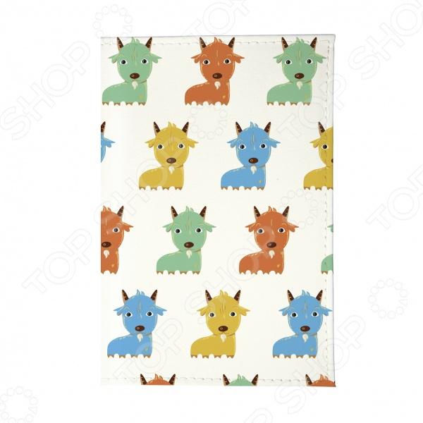 Обложка для паспорта Mitya Veselkov «Цветные козлята»