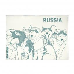 фото Обложка для автодокументов Mitya Veselkov «Сибирские хаски»