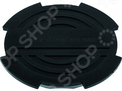 Опора для подкатного домкрата MATRIX 50904Домкраты<br>Опора для подкатного домкрата MATRIX 50904 практичное приспособление предназначенное для установки автомобилей на специальные подъемные устройства. Резиновая опора предназначена для установки на чашку подкатных домкратов моделей 51135, 51035, 510105. За счет использования высококачественной противоударной резины, опора исключает повреждения автомобиля при подъеме. Диаметр опоры составляет 130 мм.<br>