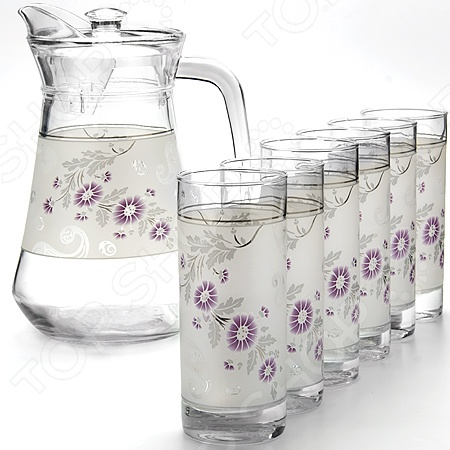 Набор: кувшин и 6 стаканов Loraine LR-24067