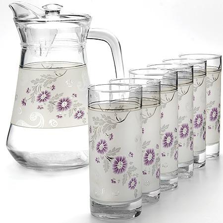 Купить Набор: кувшин и 6 стаканов Loraine LR-24067