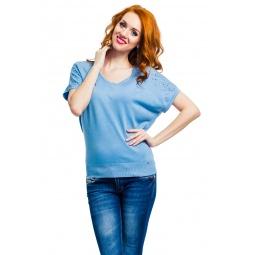 фото Туника Mondigo 9483. Цвет: джинсовый. Размер одежды: 44