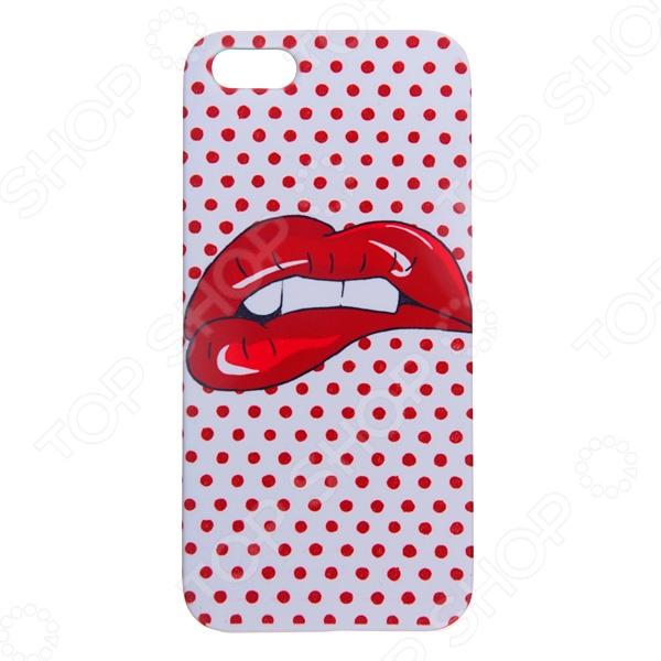 Чехол для iPhone 5 Mitya Veselkov «Губы» iris pattern protective plastic back case for iphone 4 4s white