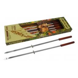 фото Набор плоских шампуров с деревянными ручками BOYSCOUT