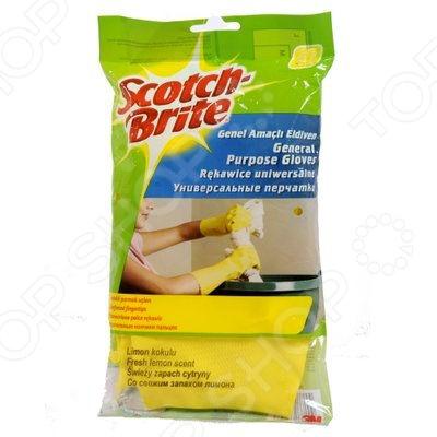 Перчатки хозяйственные Scotch-Brite универсальные. В ассортименте