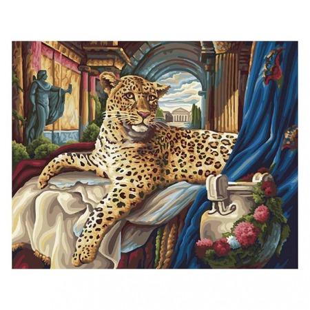 Купить Набор для раскрашивания по номерам Белоснежка «Римский леопард»