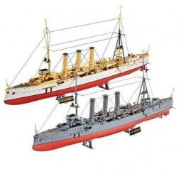 фото Набор: две сборные модели крейсеров Revell SMS Dresden и SMS Emden