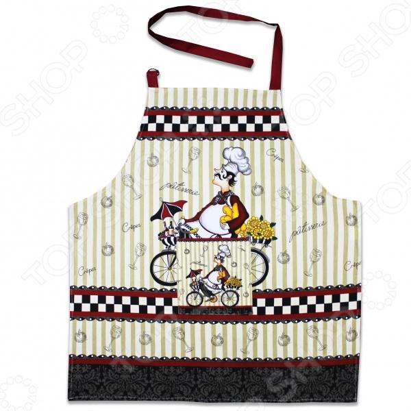 Фартук Bon Appetit ChefФартуки<br>Фартук Bon Appetit Chef незаменимая вещь для каждой хозяйки. Он отлично подойдет для уборки и готовки и надежно защитит вашу одежду от попадания грязи и жирных брызг. Фартук выполнен из натурального хлопка и снабжен удлиненным поясом и регулируемым шейным ремешком. Модель украшена оригинальным рисунком. Фартук подходит под размеры S-XXL.<br>