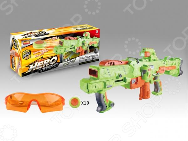 Оружие игрушечное Yako Y4416209Другое игрушечное оружие<br>Оружие игрушечное Yako Y4416209 оригинальный космический бластер, который специально создан для активных детей, обожающих подвижные игры. Оружие выполнено из высококачественной пластмассы, которая не утяжеляет его. Оно удобно ложится в руку, и его можно использовать даже из положения лежа. Оружие стреляет специальными мягкими дисками диаметром 4 см. Всего в наборе 10 дисков. Все снаряды заряжаются в магазин. Взвод осуществляется отведением рычага. Приклад у оружия съемный. Дальность стрельбы составляет 18 метров. Помимо самого оружия в комплекте вы найдете защитные очки и прицел с ИК лучом, подсветкой.<br>
