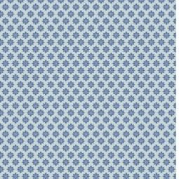 фото Отрез ткани Tilda Цветок-звездочка. Цвет: синий