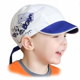 Купить Бандана с козырьком Shapochka Boom ЯВ121027. Цвет: синий, белый