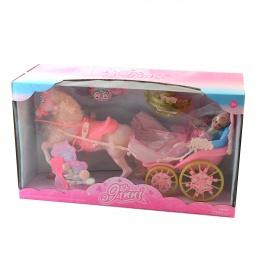 фото Набор игровой для девочки Shantou Gepai «Карета с розовой лошадью»