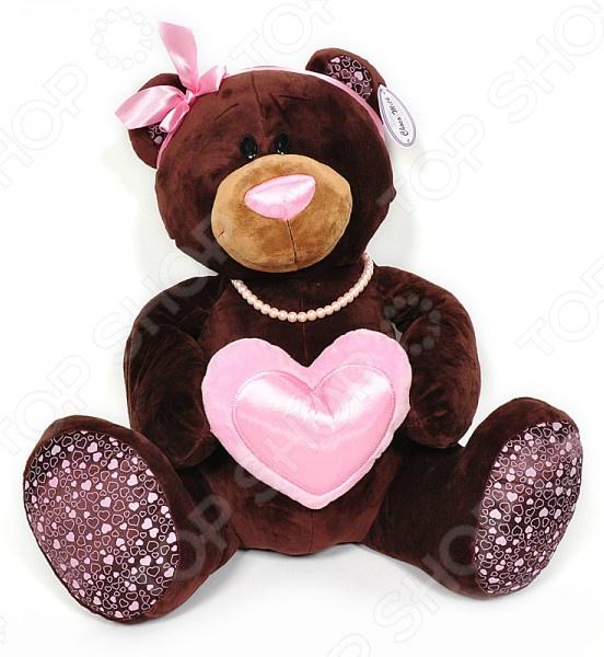 Мягкая игрушка Choco&Milk «Медведь девочка с сердцем»