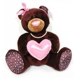 фото Мягкая игрушка Choco&Milk «Медведь девочка с сердцем»