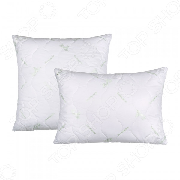 Подушка Ecotex «Эвкалипт»Классические подушки<br>Подушка Ecotex Эвкалипт выполнена из натуральных материалов и хлопковой ткани. Эвкалиптовое волокно инновационный материал разработанный на основе растительного стебля растения. Волокна пронизывают наполнитель хлопкового чехла, шелковистые на ощупь и напоминают текстуру шелка. Наполнитель подушки полое микроволокно DownFill, которое поддерживает упругость и форму вне зависимости от количества стирок. Гипоаллергенное изделие обеспечит здоровый сон и снимет стресс. Подушка коллекции Эвкалипт является прекрасным теплообменником, благотворно влияет на состояние кожи и не поглощает посторонние запахи, что повышает гигиеничные свойства предмета.<br>