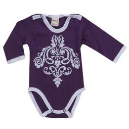 фото Боди для новорожденных с длинным рукавом Ёмаё 24-316. Цвет: лиловый