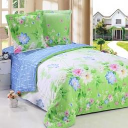 фото Комплект постельного белья Amore Mio Florida. Poplin. 1,5-спальный
