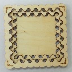 фото Заготовка деревянная для изготовления магнита RTO «Квадратная тарелка»