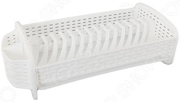 Сушилка для посуды Violet 2701Сушилки для посуды<br>Универсальная сушилка для посуды Violet 2701 станет отличным и практичным дополнением на вашей кухне. Она предназначена для сушки вымытой посуды и столовых приборов. Дизайн изделия предусматривает возможность ставить на него тарелки, чашки, ножи, вилки, ложки и т.д. Специальный поддон для стока воды вставляется в основание. Сушилка обладает компактными размерами, позволяющими экономить место. Современный дизайн и функциональность выделяют это изделие из ряда аналогов. Данная модель сушки для посуды займет маленькое, но достойное место на вашей кухне.<br>