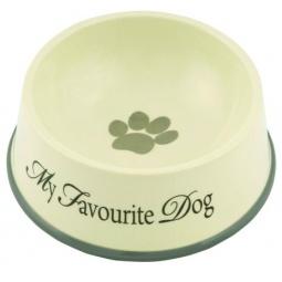 фото Миска для собак с окантовкой Beeztees Outer. My Favourite Dog. Объем: 1300 мл. Диаметр: 22 см. Высота: 8,5 см