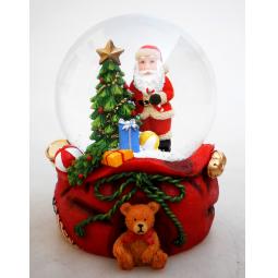 фото Снежный шар декоративный Crystal Deco «Санта с подарками»