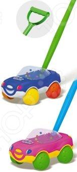 Каталка для малыша на палочке Стеллар «Машинка» 01369. В ассортименте