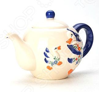 Чайник заварочный Loraine «Гуси» LR-21575 чайник заварочный loraine lr 23768 0 7л белый с рисунком ромашки