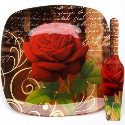 фото Блюдо и лопатка для торта Loraine LR-23909