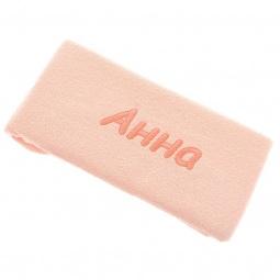 фото Полотенце подарочное с вышивкой TAC Анна. Цвет: персиковый