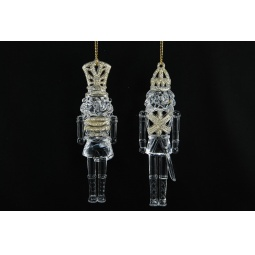 фото Елочное украшение Crystal Deco «Щелкунчик». В ассортименте. Цвет: золотистый