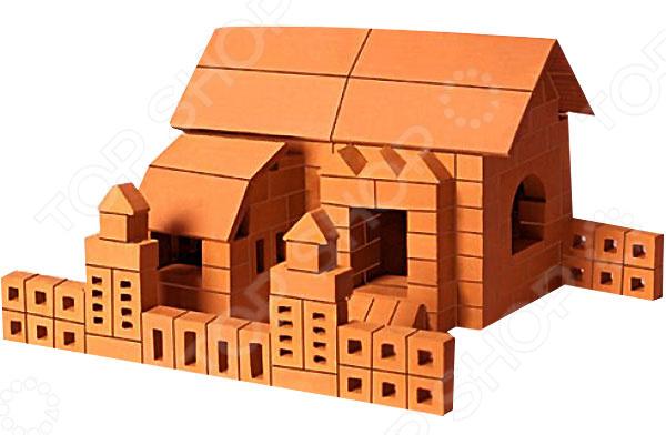 Конструктор из глины Brick Master «Ферма»Другие виды конструкторов<br>Конструктор из глины Brick Master Ферма оригинальная альтернатива традиционным конструкторам с пластиковыми деталями. Почувствуйте себя настоящим строителем, создавая строение из миниатюрных кирпичиков. Все строительные блоки выполнены из обожженной глины, они гладкие и приятные на ощупь. Набор включает специальную строительную смесь из очищенного речного песка и крахмала, используемую для скрепления кирпичиков. После высыхания состав затвердевает, и готовое строение можно поставить на полочку. Однако при желании достаточно поместить конструкцию на 3-4 часа в воду, и смесь растворится. В результате кирпичики снова будут готовы для игры. Конструктор подойдет для детей от 3 лет. Главное, чтобы ребенок начинал игру под присмотром взрослых. Все материалы экологически чистые и безопасные для здоровья. Комплект включает керамические детали, смесь и мастерок.<br>