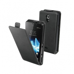 фото Чехол Muvit Slim Flip для Sony Xperia T. Цвет: черный