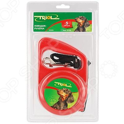 Поводок-рулетка TRIOL FD9006В поводок рулетка triol colour цвет голубой черный длина 5 м размер s
