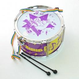 Купить Игрушка музыкальная для ребенка Маша и Медведь «Барабан со светом и звуком»