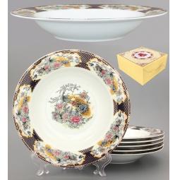Купить Набор суповых тарелок Elan Gallery «Павлин на золоте»