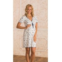 Купить Сорочка для беременных Nuova Vita 701.2. Цвет: синий