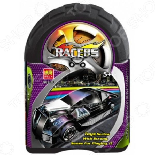 Конструктор-игрушка Bela RacersАвто. Мото<br>Конструктор-игрушка Bela Racers веселое и развивающее развлечение для любого ребенка. Это очень качественная и прочная модель, которая несомненно вам понравиться. Все детали, выполненные из высококачественной пластмассы, легко собираются и разбираются. Собранная модель не развалится в руках и не поломается во время игры. В наборе находятся различные детали, которые вместе превратятся в стильный и быструю гоночную машинку. При желании, ребенок может придумывать свои варианты сборки машины. Яркие и разнообразные детали надолго увлекут малыша в мир игры, где он разовьет свою фантазию и цветовосприятие.<br>