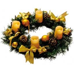 фото Венок новогодний Star Trading 004-55 «со свечами»