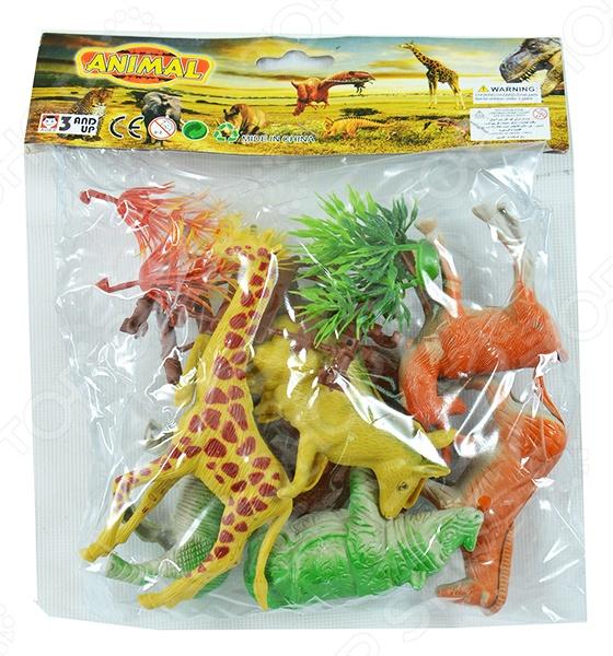 Набор фигурок Shantou Gepai «Африканские животные»Игрушечные животные<br>Набор фигурок Shantou Gepai Африканские животные это замечательный подарок вашему малышу! Он предназначен для любителей животных и дикой природы. В набор входит несколько обитателей жарких стран, среди которых жираф, носорог, верблюд, кенгуру и другие. Все фигурки изготовлены из пластика и обладают потрясающей детализацией. Зверюшки разнообразят игровые ситуации, откроют новые сюжеты для маленького покорителя южных широт и помогут развить мелкую моторику рук, внимание, воображение и координацию движений. Не упустите шанс порадовать ребенка замечательным подарком!<br>