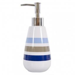 фото Диспенсер для жидкого мыла Spirella Rayures. Цвет: белый, синий