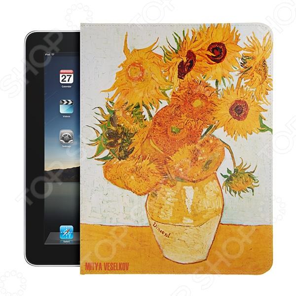 Чехол для iPad Mitya Veselkov «Подсолнухи Ван Гога» чехол для ipad mitya veselkov подсолнухи ван гога