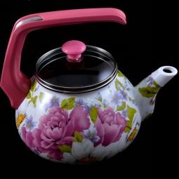 Купить Чайник эмалированный Interos «Пион»
